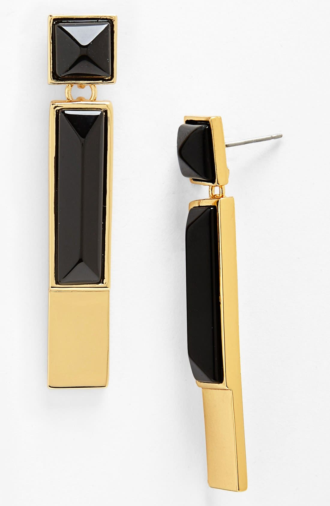 Alternate Image 1 Selected - Vince Camuto 'Tour of Duty' Onyx Linear Earrings