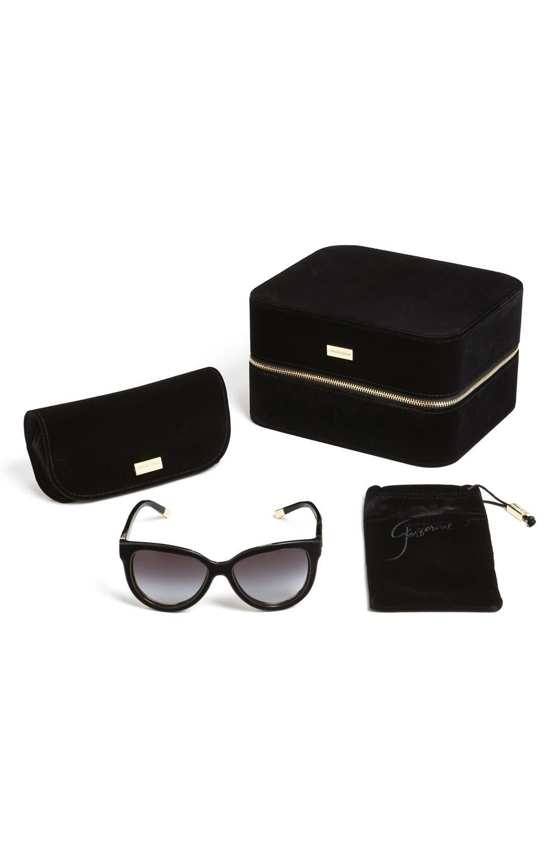 Alternate Image 2  - Giorgio Armani 'Garçonne' 57mm Cat Eye Sunglasses