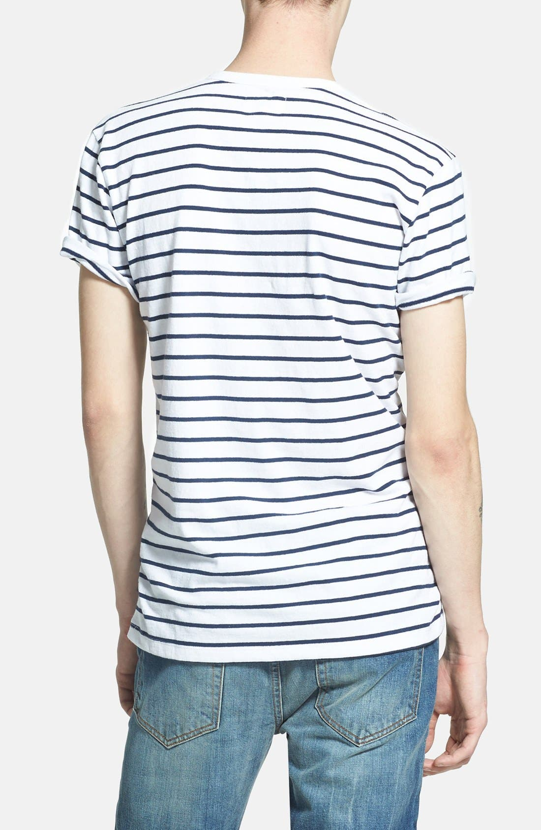 Alternate Image 2  - Obey 'Charter' Short Sleeve Stripe Henley T-Shirt