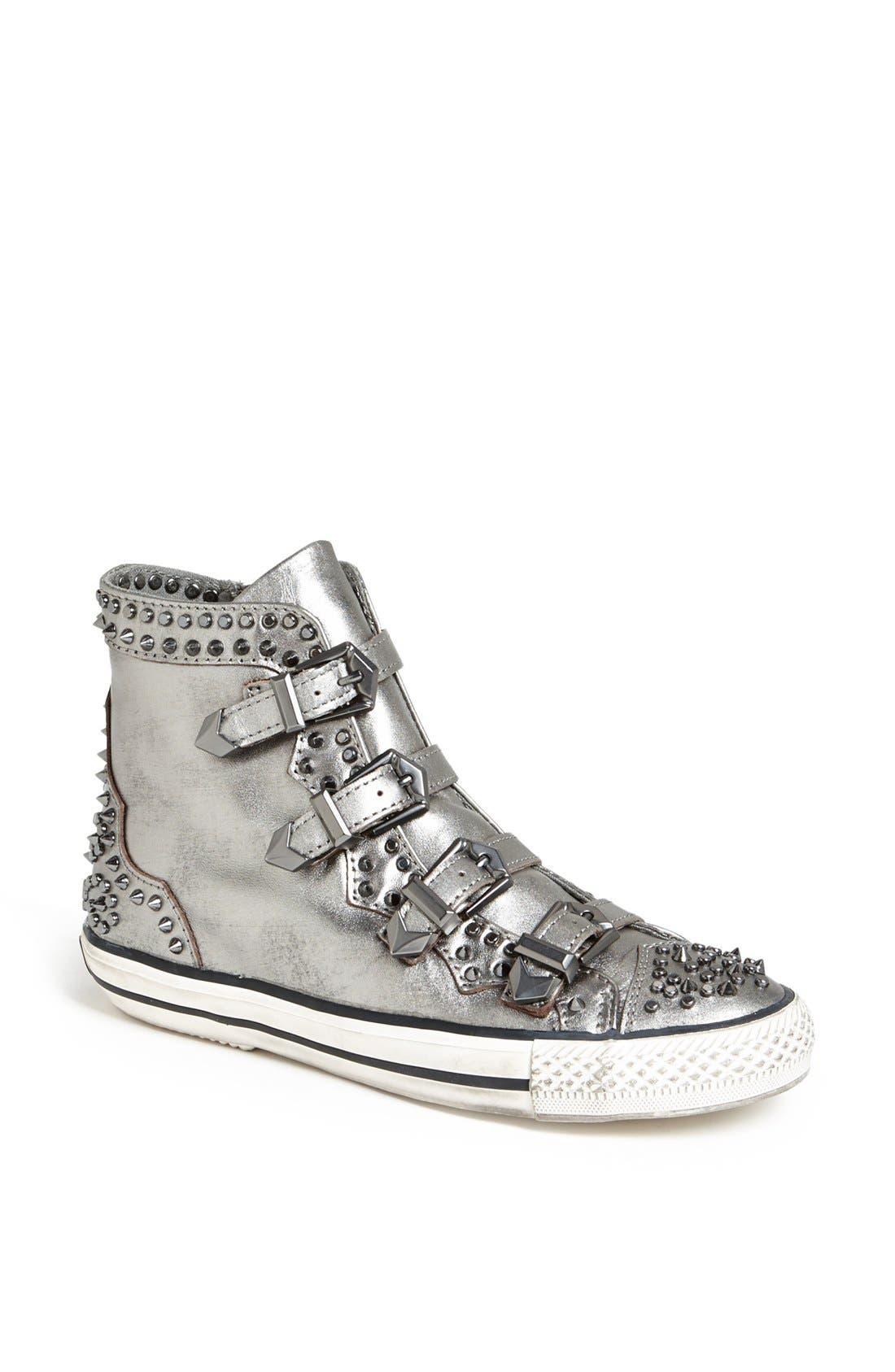 Main Image - Ash 'Viking' Spiked Metallic Leather Sneaker