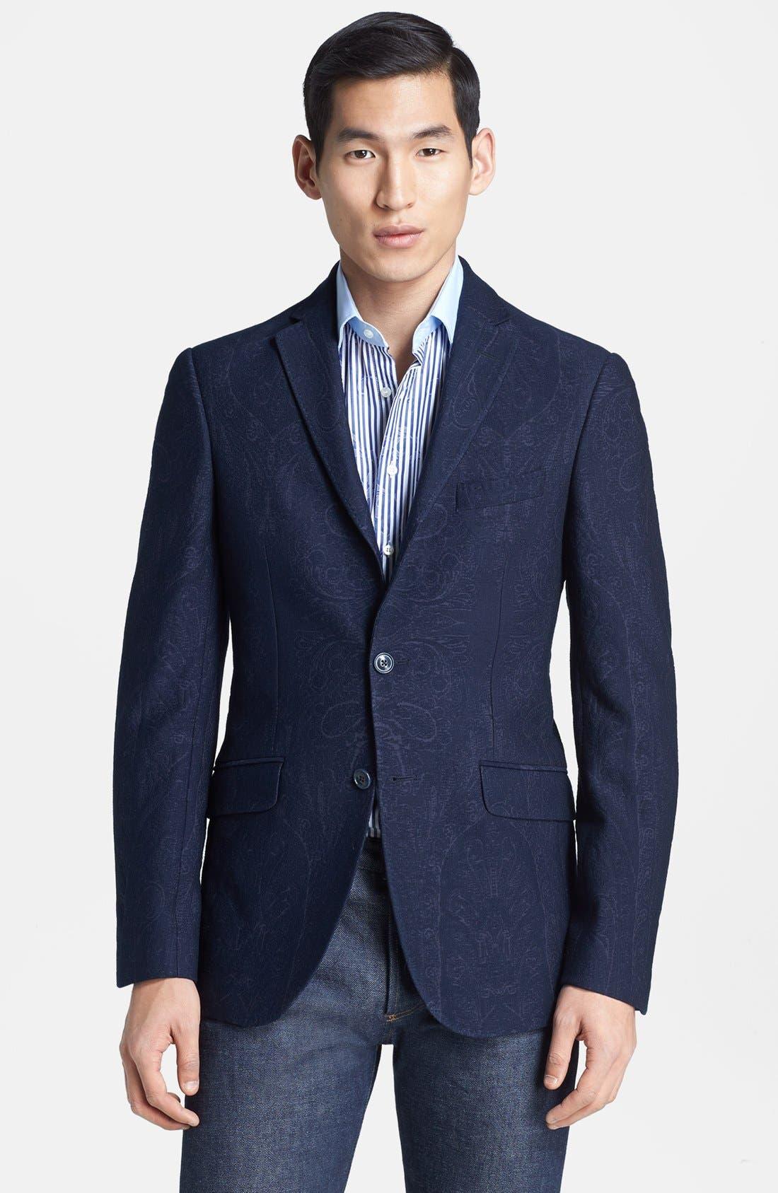 Alternate Image 1 Selected - Etro Tonal Paisley Sportcoat
