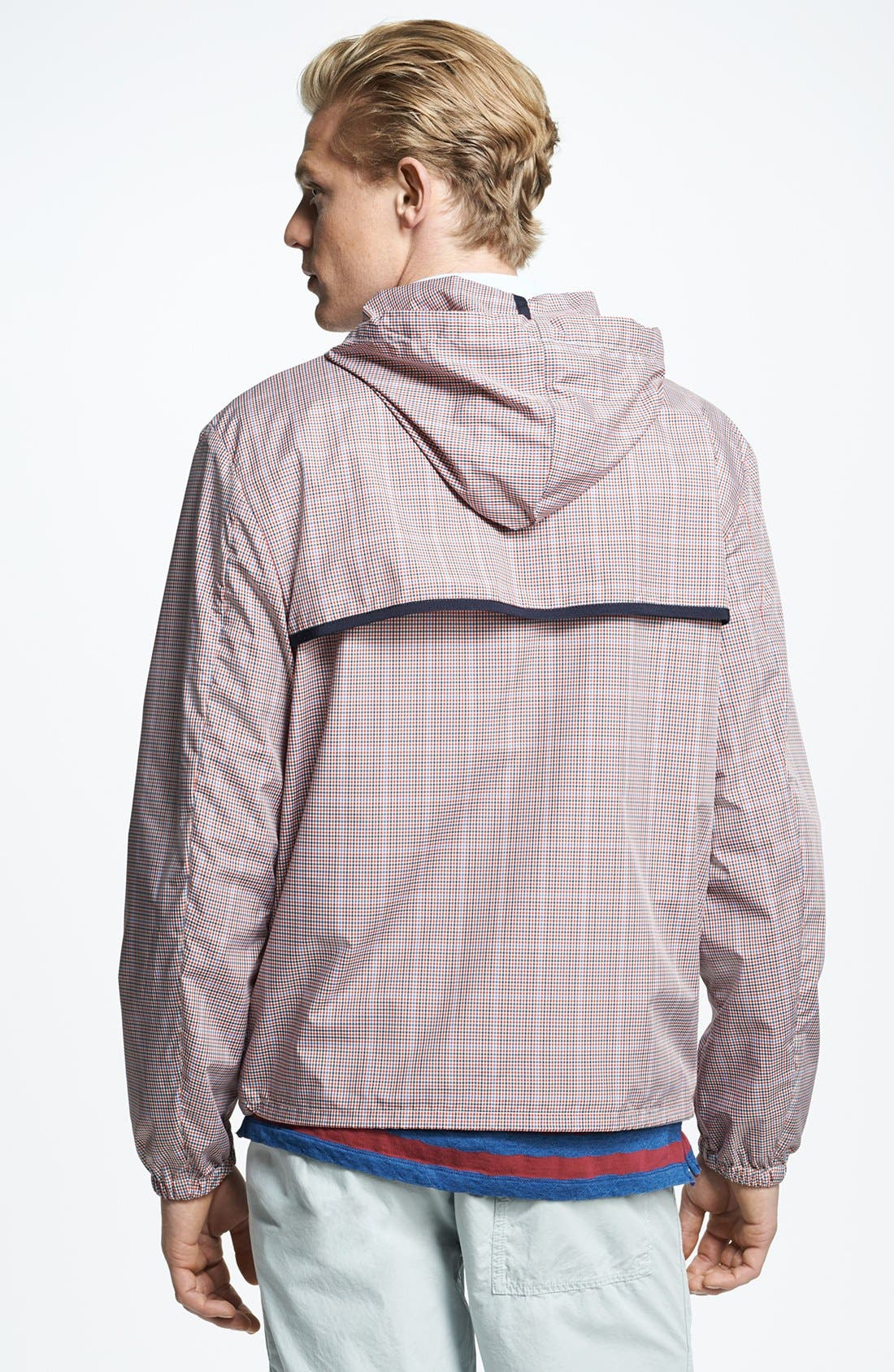Alternate Image 2  - Michael Bastian Lightweight Microcheck Hooded Jacket