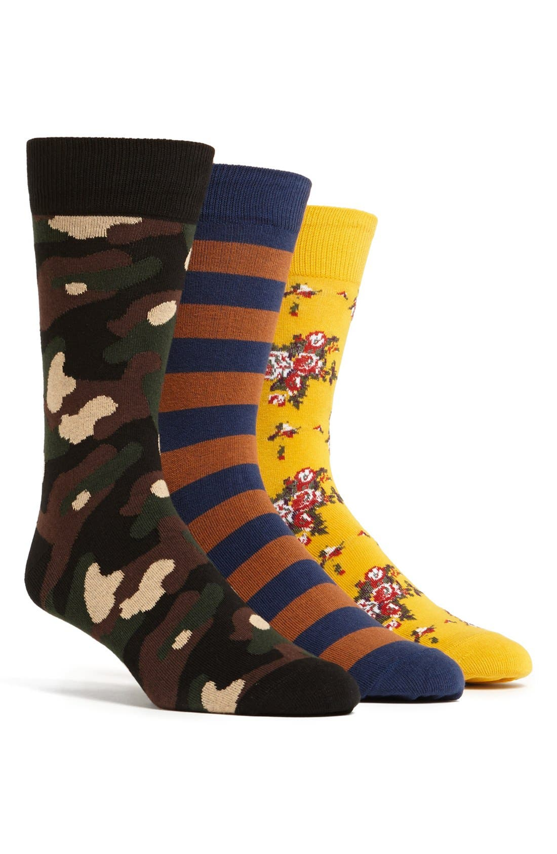 Alternate Image 1 Selected - Richer Poorer 'The Long Weekend' Socks Gift Set (3-Pack)