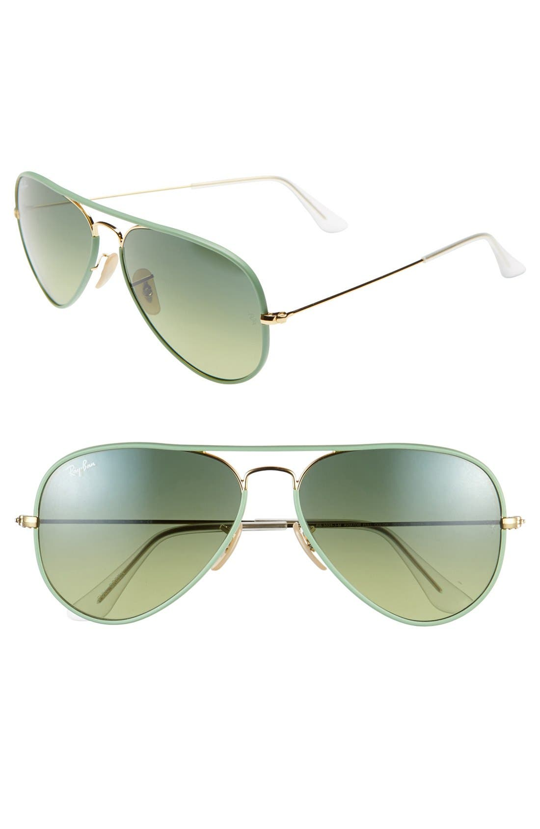 Alternate Image 1 Selected - Ray-Ban 58mm Aviator Sunglasses