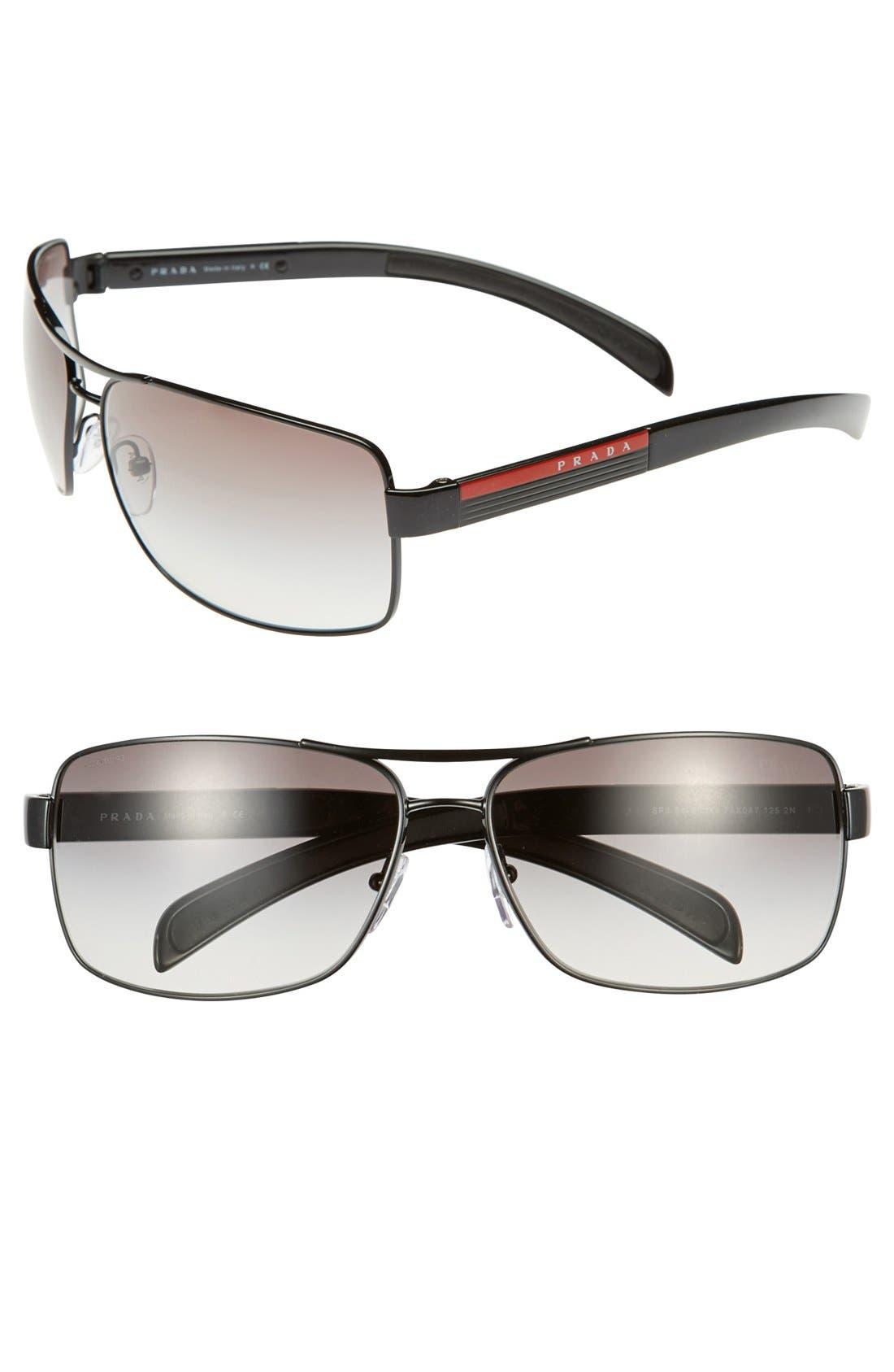 Prada 'Caravan' 65mm Sunglasses
