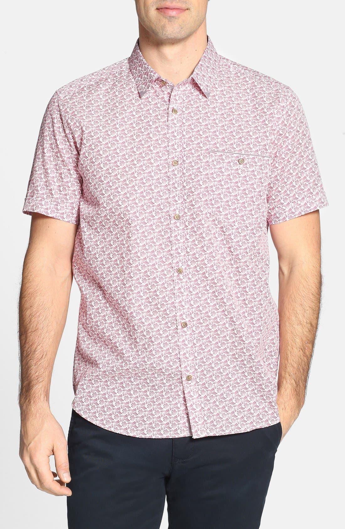 Alternate Image 1 Selected - Ted Baker London 'Yurtamp' Short Sleeve Print Sport Shirt