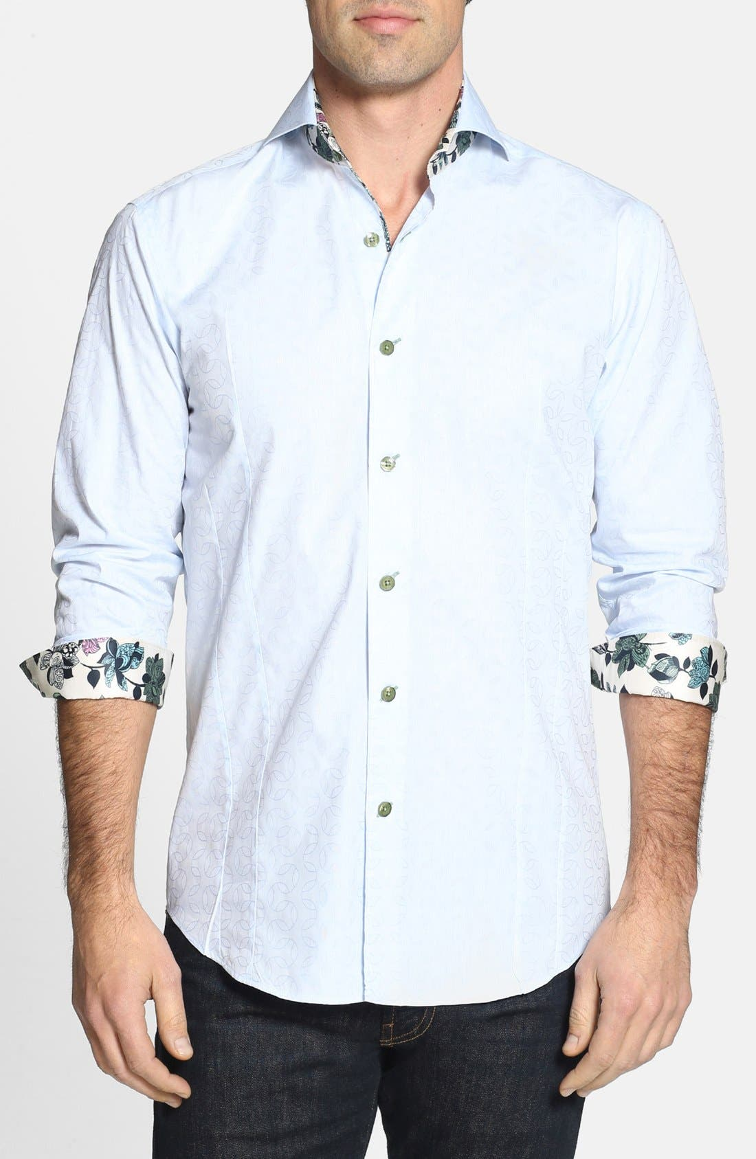 Alternate Image 1 Selected - Bogosse 'D-Mateo' Trim Fit Sport Shirt
