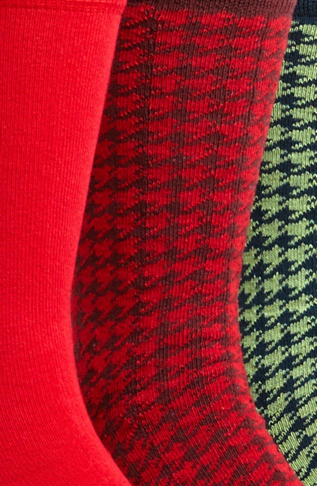 Alternate Image 2  - Topman Houndstooth Pattern Socks (5-Pack)