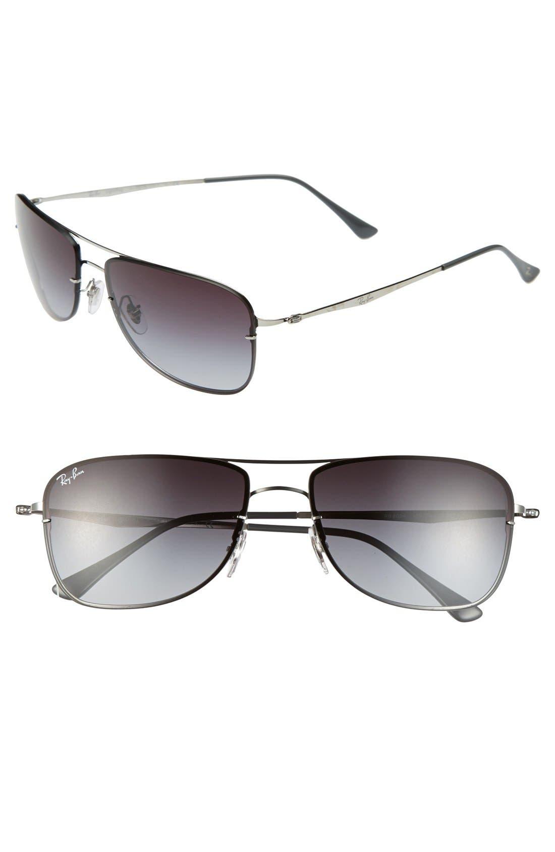 Main Image - Ray-Ban 59mm Pilot Sunglasses
