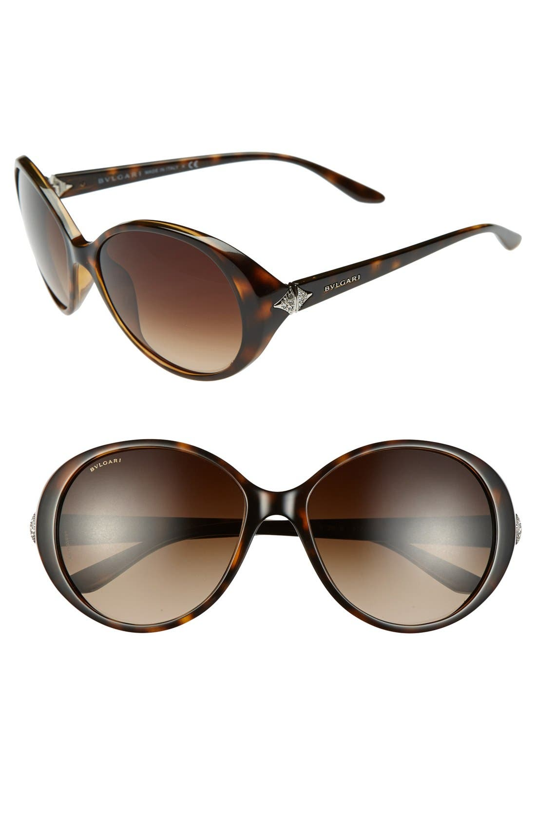 Alternate Image 1 Selected - Bvlgari 58mm Oversized Sunglasses