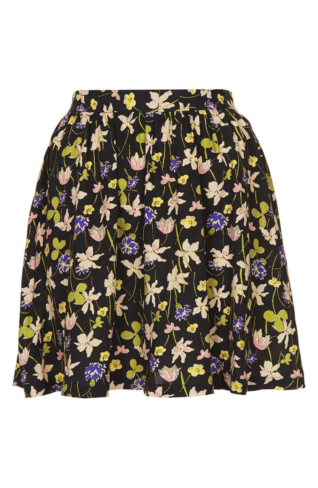 Alternate Image 3  - Topshop 'Milly' Wildflower Print Skirt