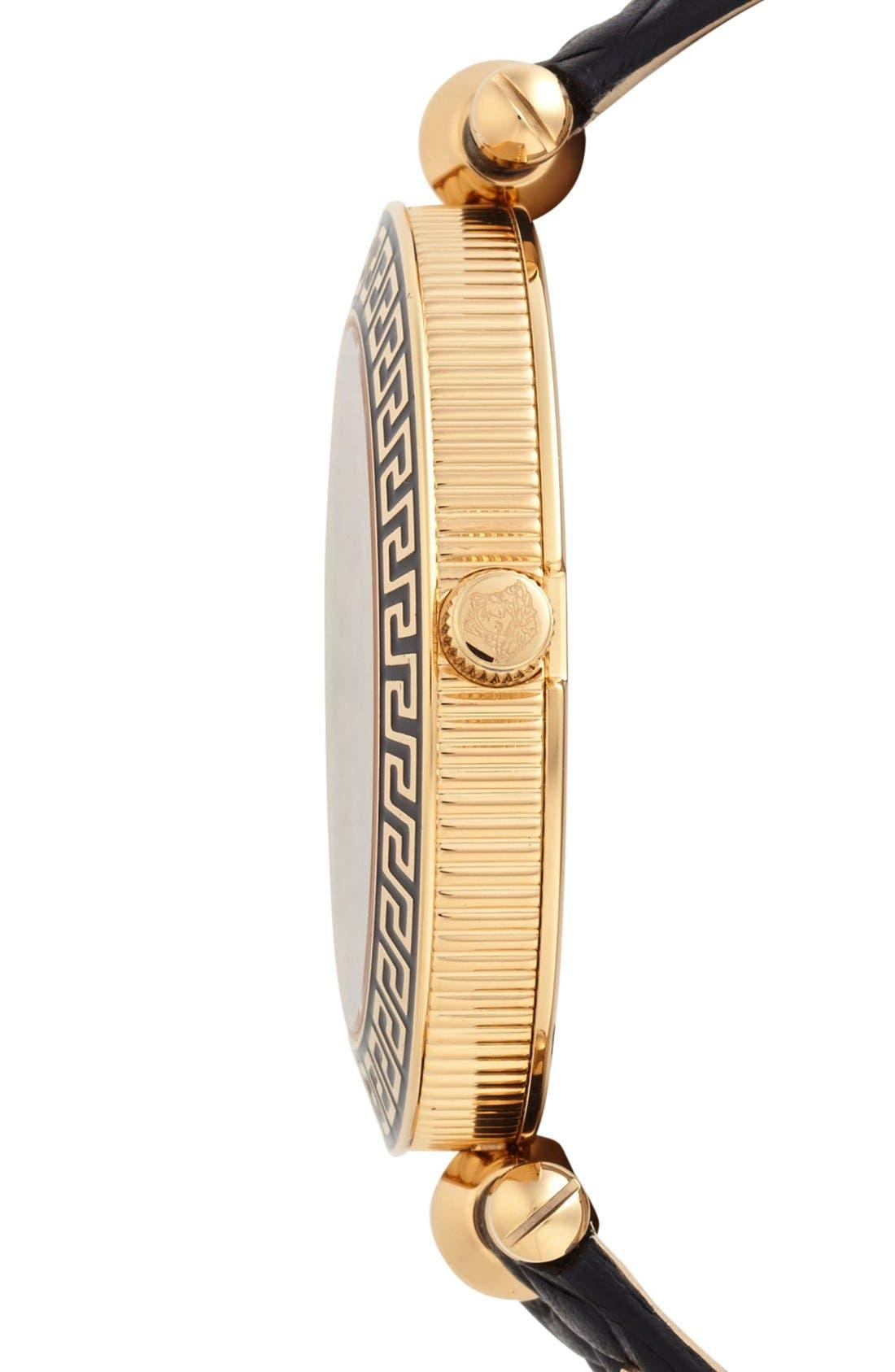 Alternate Image 4  - Versace 'Vanitas' Baroque Pattern Leather Strap Watch, 40mm