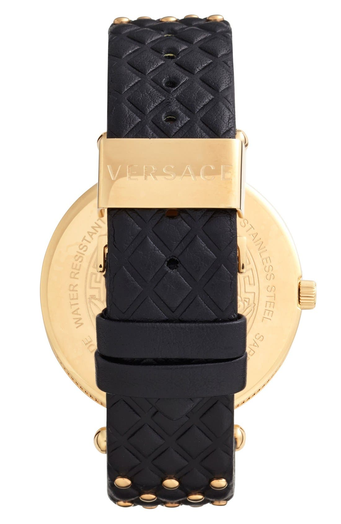 Alternate Image 3  - Versace 'Vanitas' Baroque Pattern Leather Strap Watch, 40mm