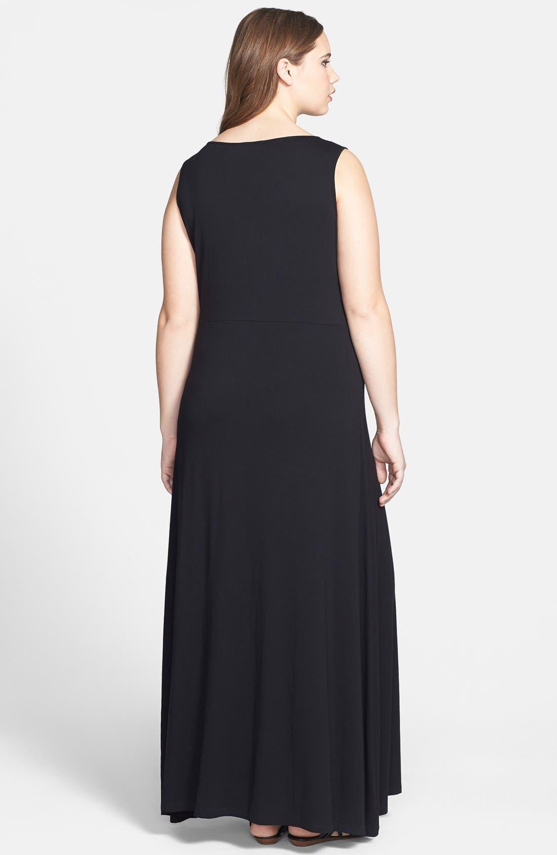Alternate Image 2  - Vince Camuto Mesh Inset Maxi Dress (Plus Size)