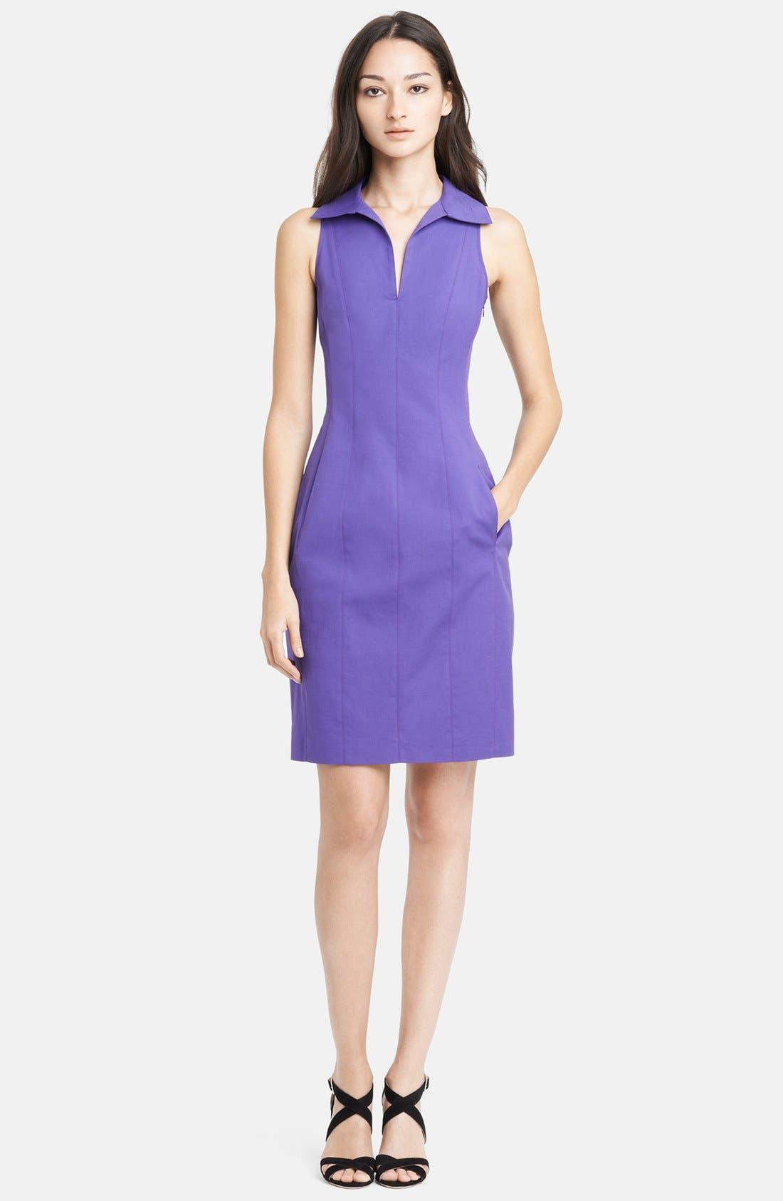 Alternate Image 1 Selected - Armani Collezioni Double Face Stretch Cotton Dress