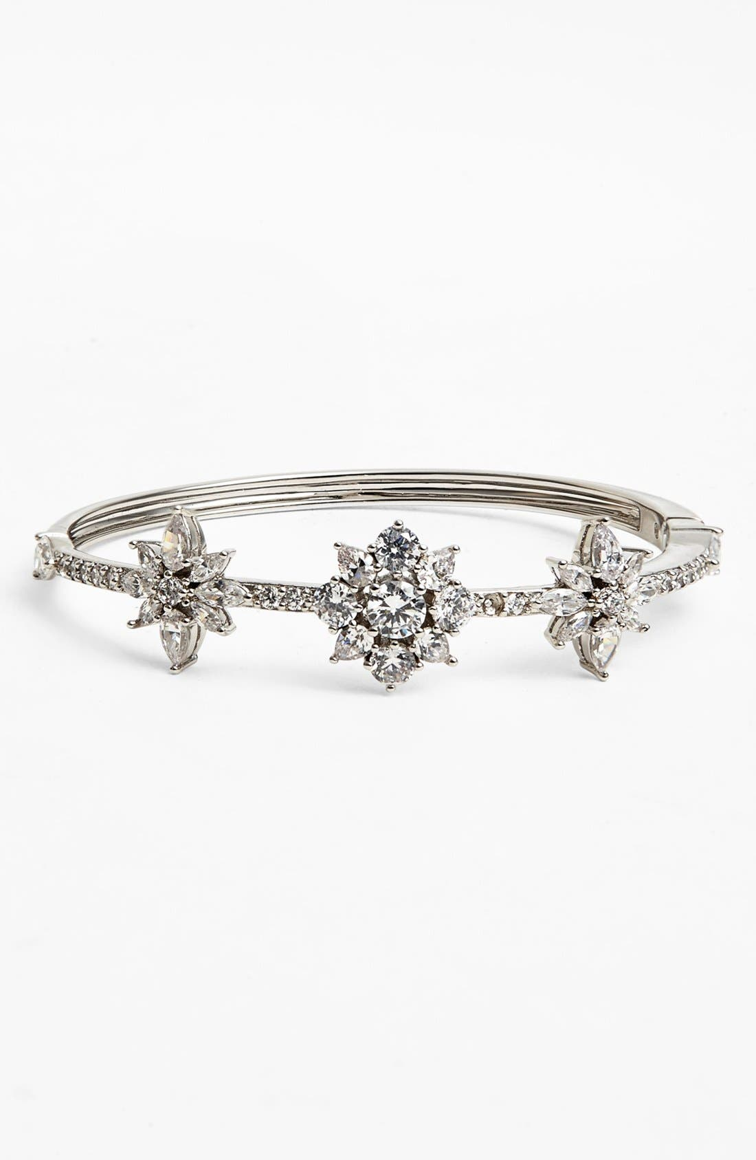 Main Image - Nadri 'Flores' Station Bangle Bracelet