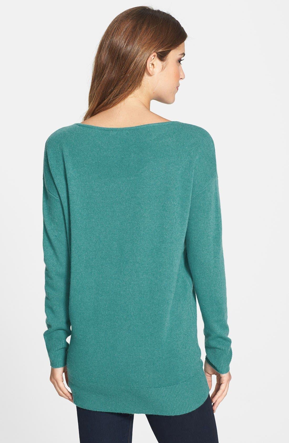 Alternate Image 2  - Halogen® Cashmere Tunic Sweater