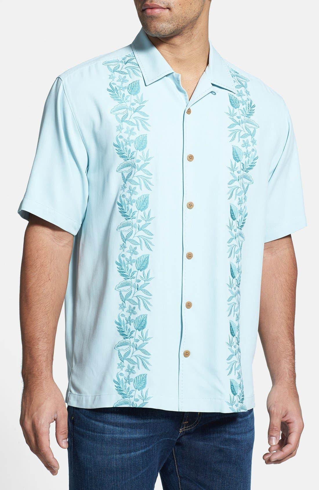 Alternate Image 1 Selected - Tommy Bahama 'Road to Havana' Regular Fit Silk Campshirt (Big & Tall)