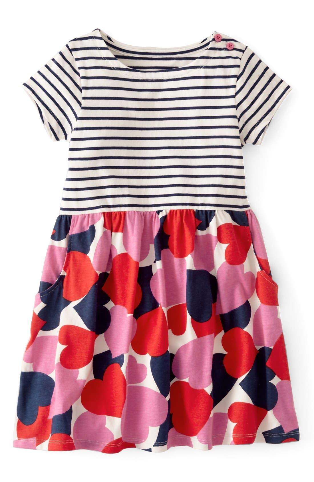 Alternate Image 1 Selected - Mini Boden 'Hotchpotch' Jersey Dress (Toddler Girls, Little Girls & Big Girls)(Online Only)