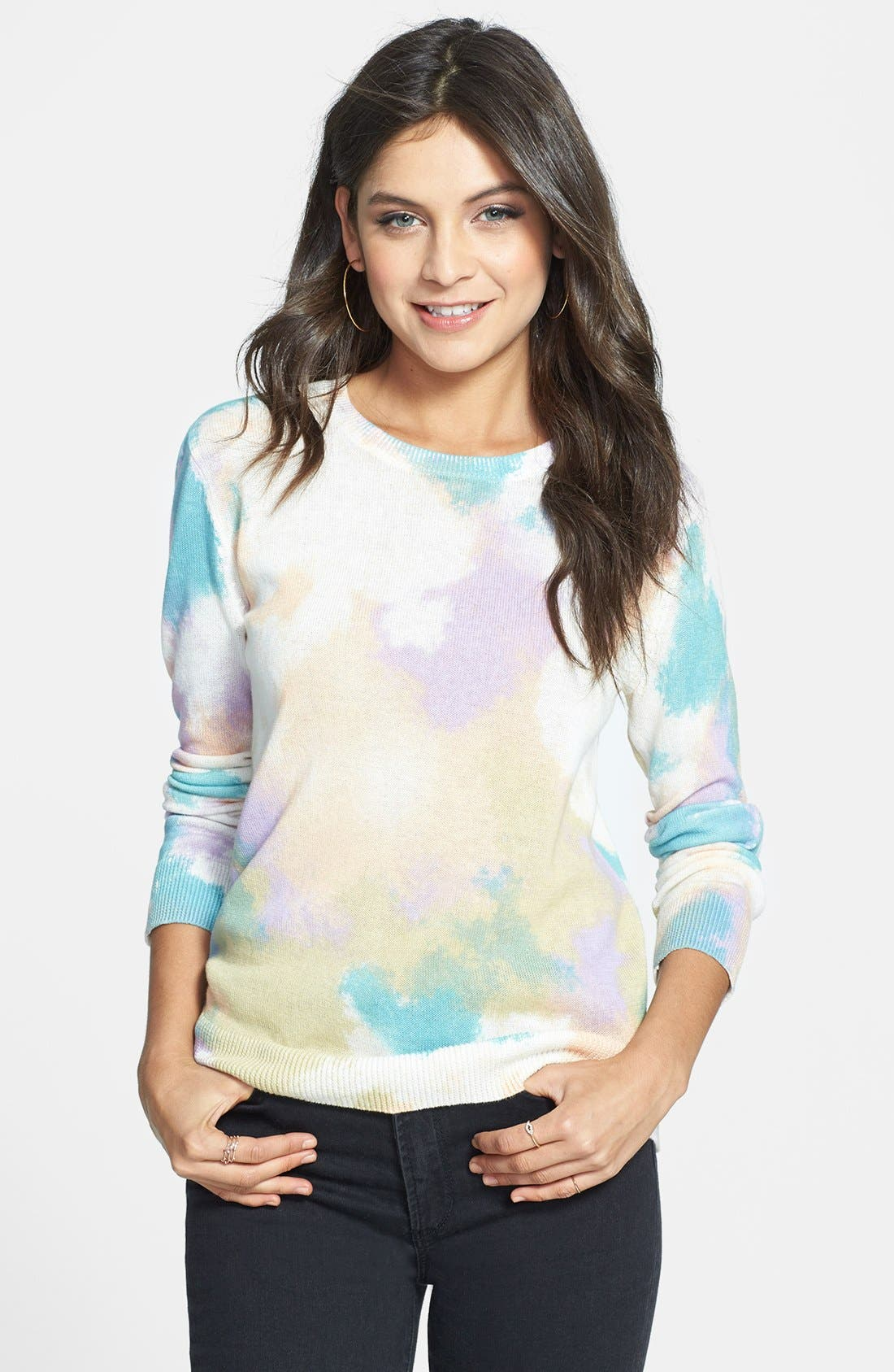 Alternate Image 1 Selected - BP. Print Cotton Pullover (Juniors)