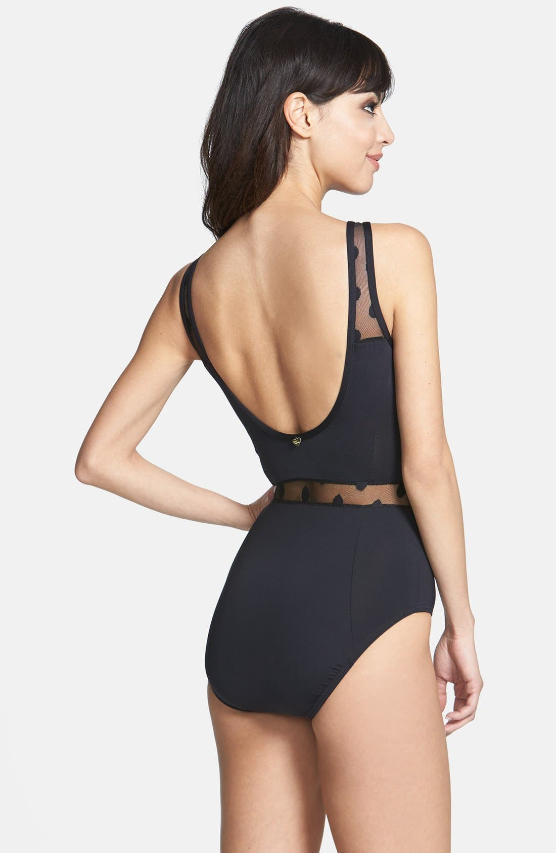 Alternate Image 2  - Betsy Johnson 'Retro Revival' One-Piece Swimsuit