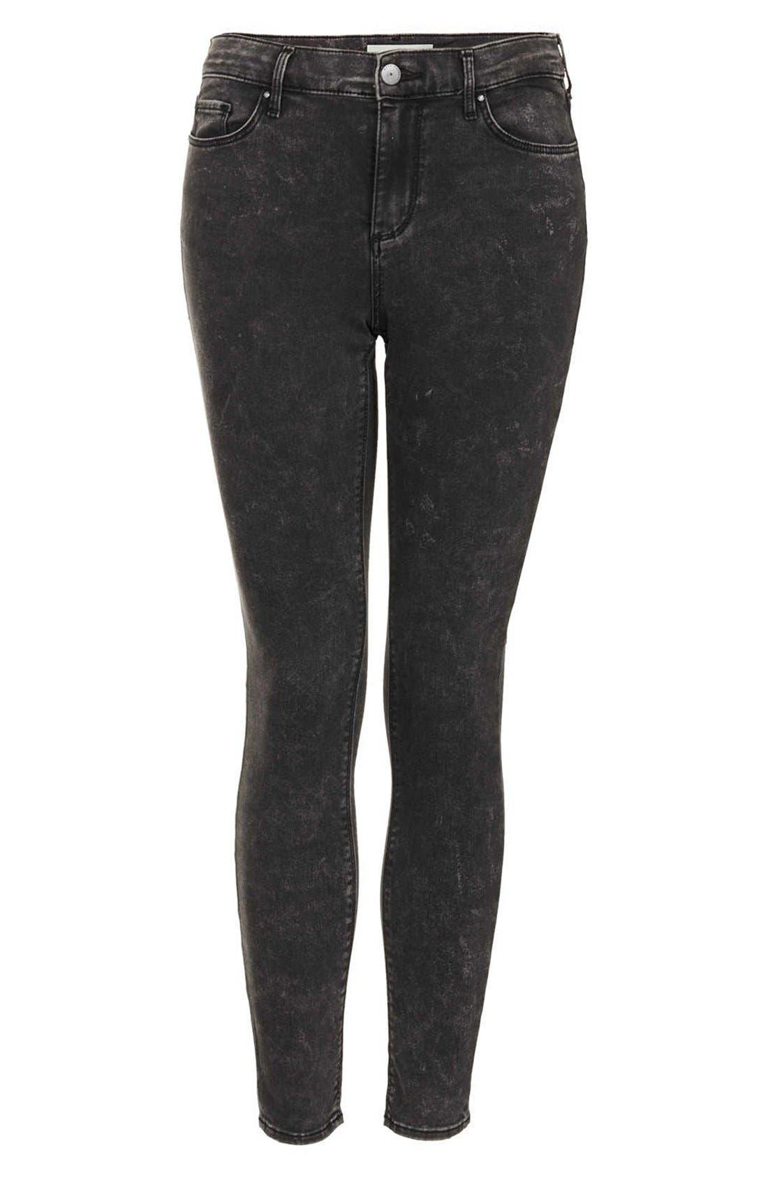 Alternate Image 3  - Topshop Moto 'Leigh' Mottled Skinny Jeans (Regular & Short)