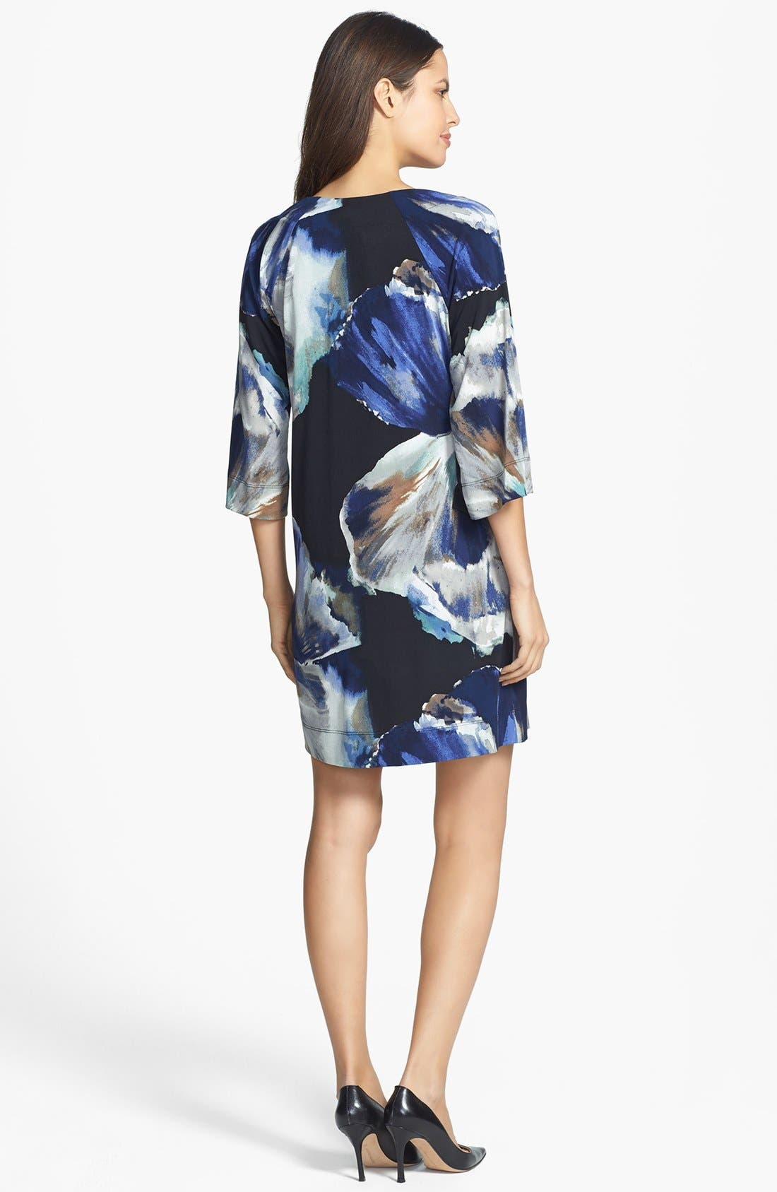 Alternate Image 2  - Donna Ricco Print Jersey Shift Dress