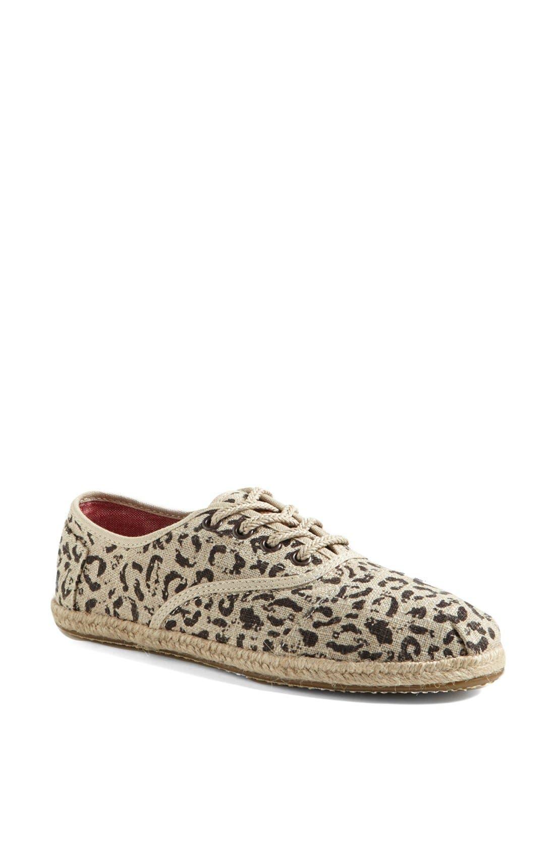 Alternate Image 1 Selected - TOMS 'Cordones' Burlap Sneaker (Women)