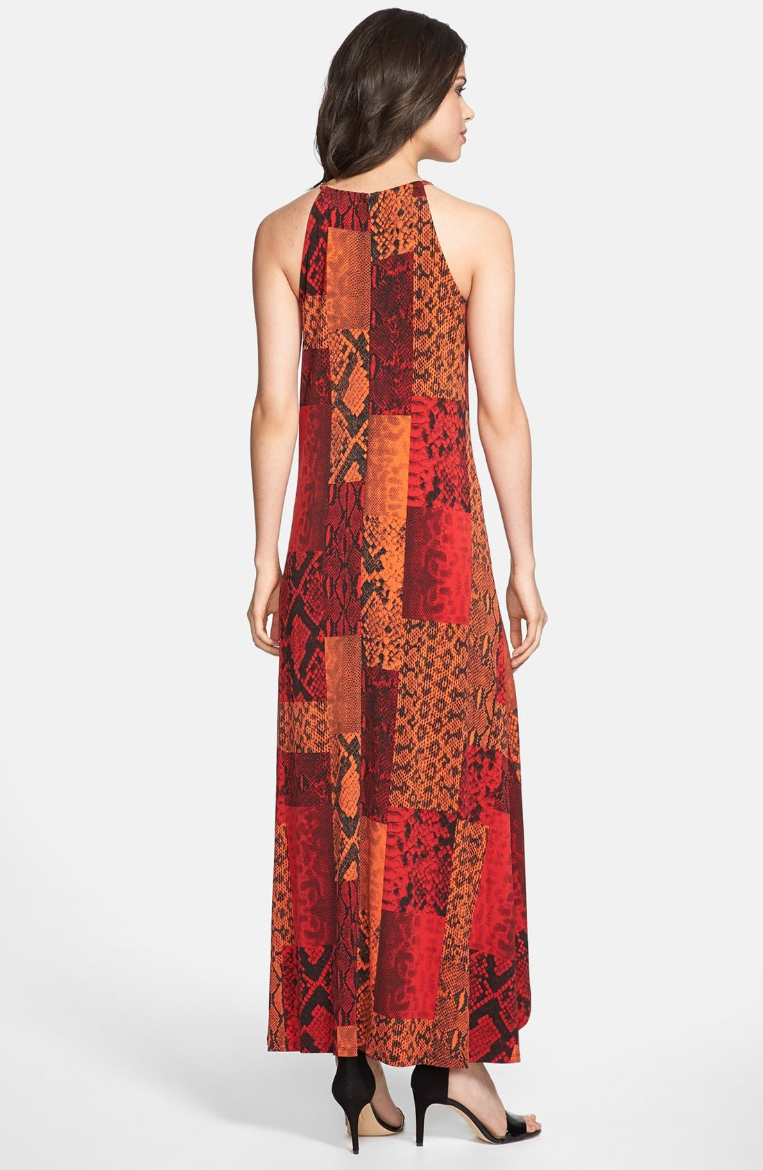 Alternate Image 2  - MICHAEL Michael Kors Metal Detail Maxi Dress