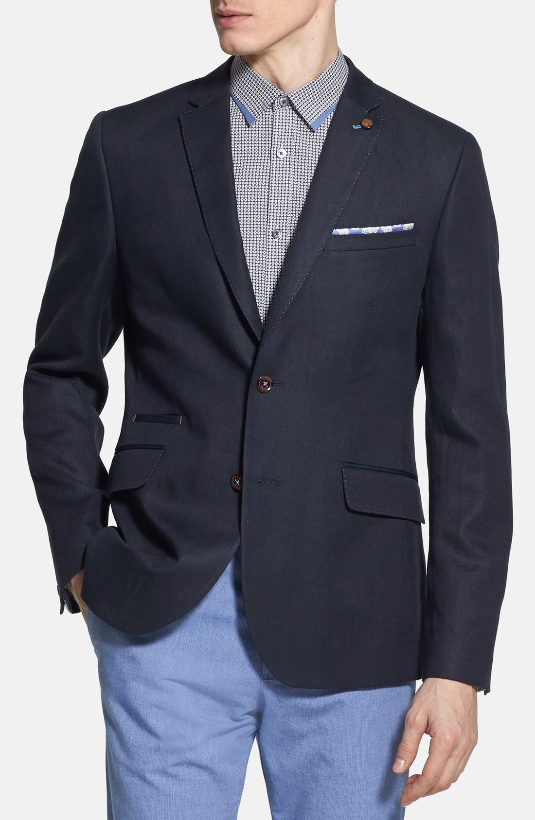 Alternate Image 1 Selected - Ted Baker London 'Dainy' Linen & Cotton Blazer