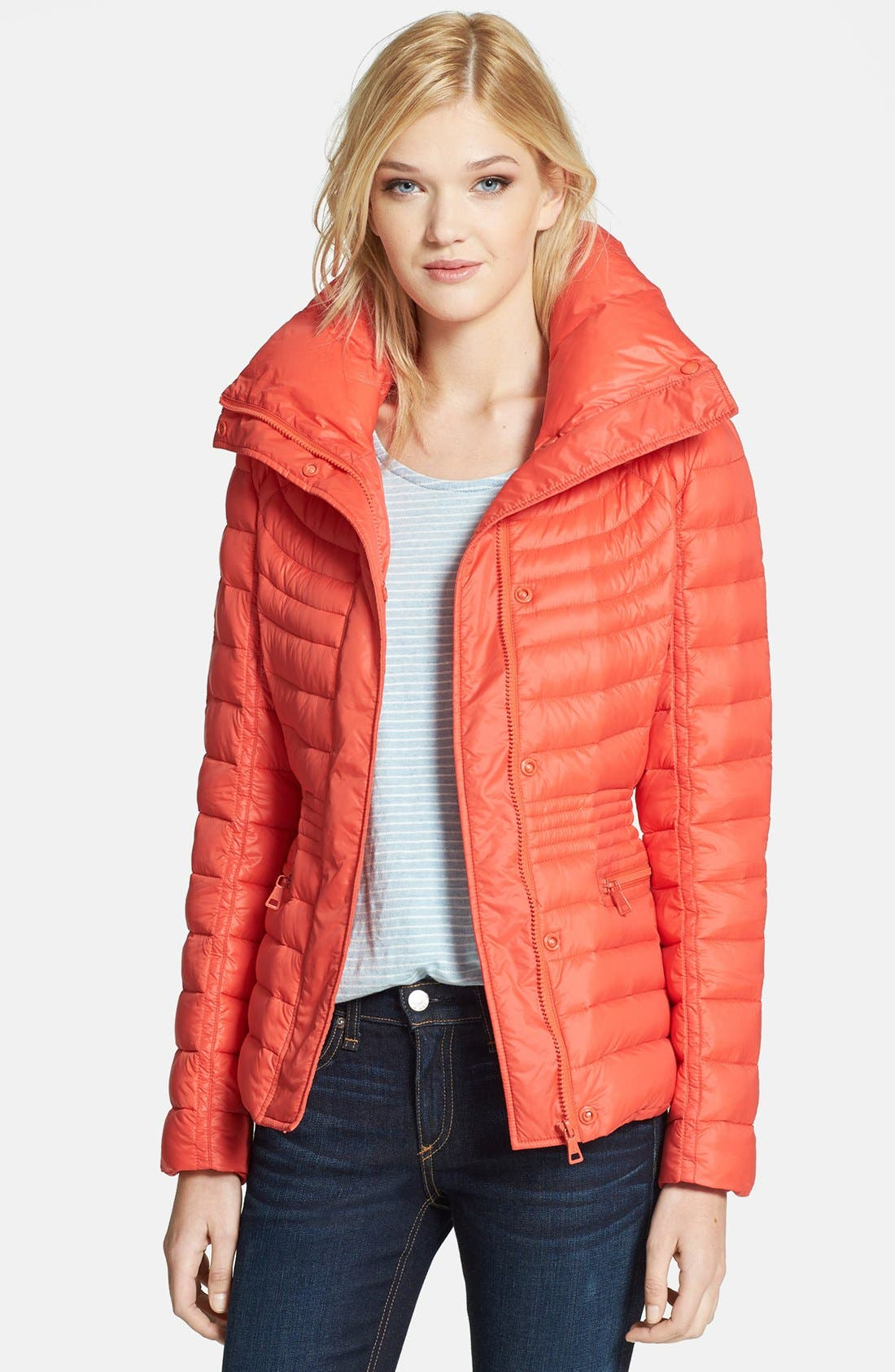 Alternate Image 1 Selected - Sam Edelman 'Katherine' Wing Collar Packable Down Jacket