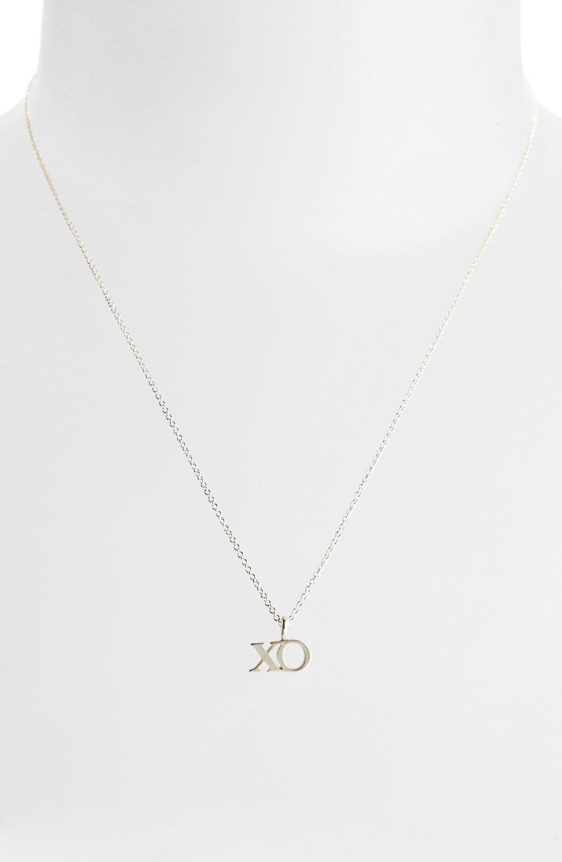 Alternate Image 2  - Dogeared 'Hugs & Kisses' Boxed XO Pendant Necklace