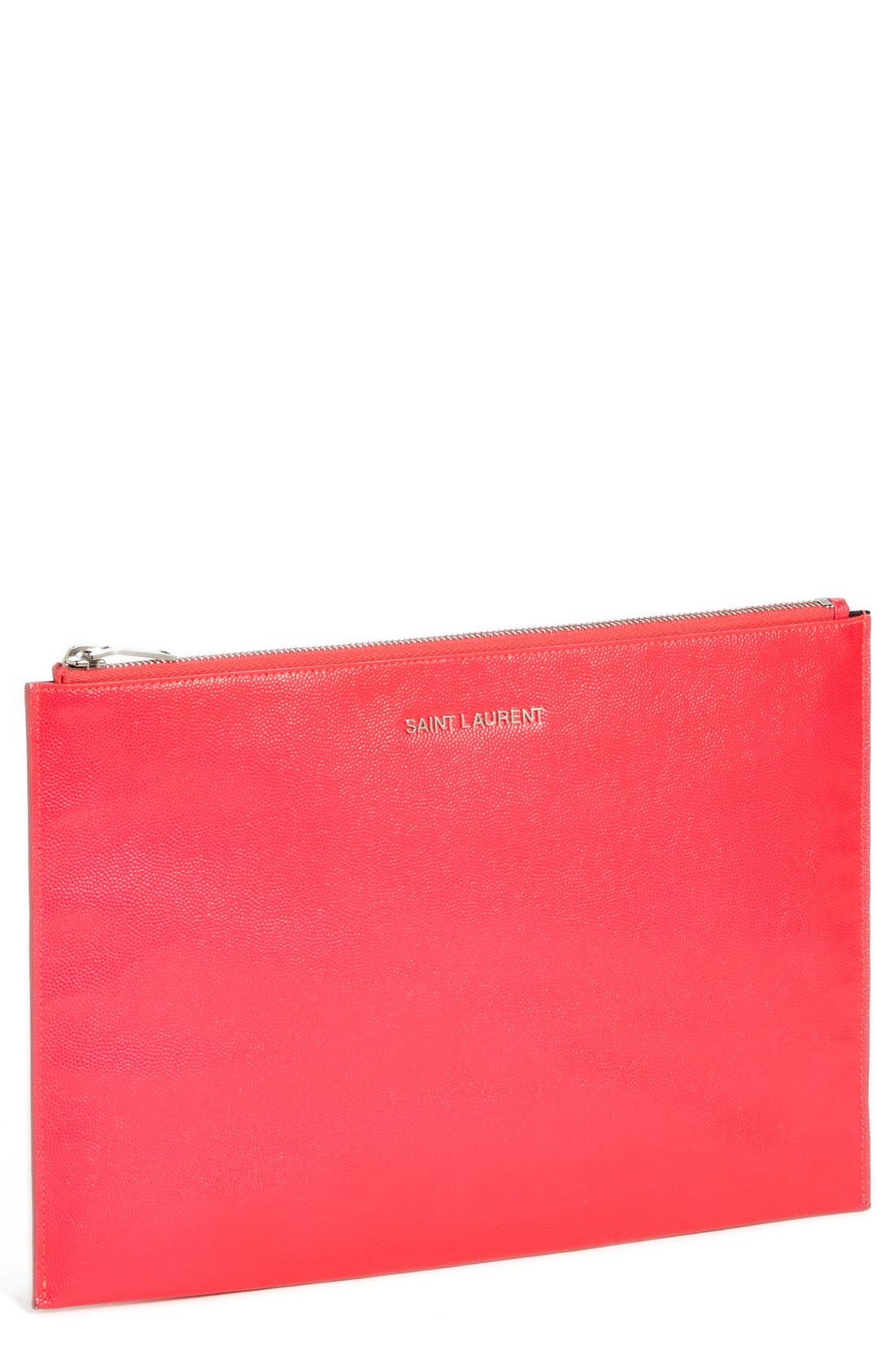 Main Image - Saint Laurent 'Letters' Zip Clutch