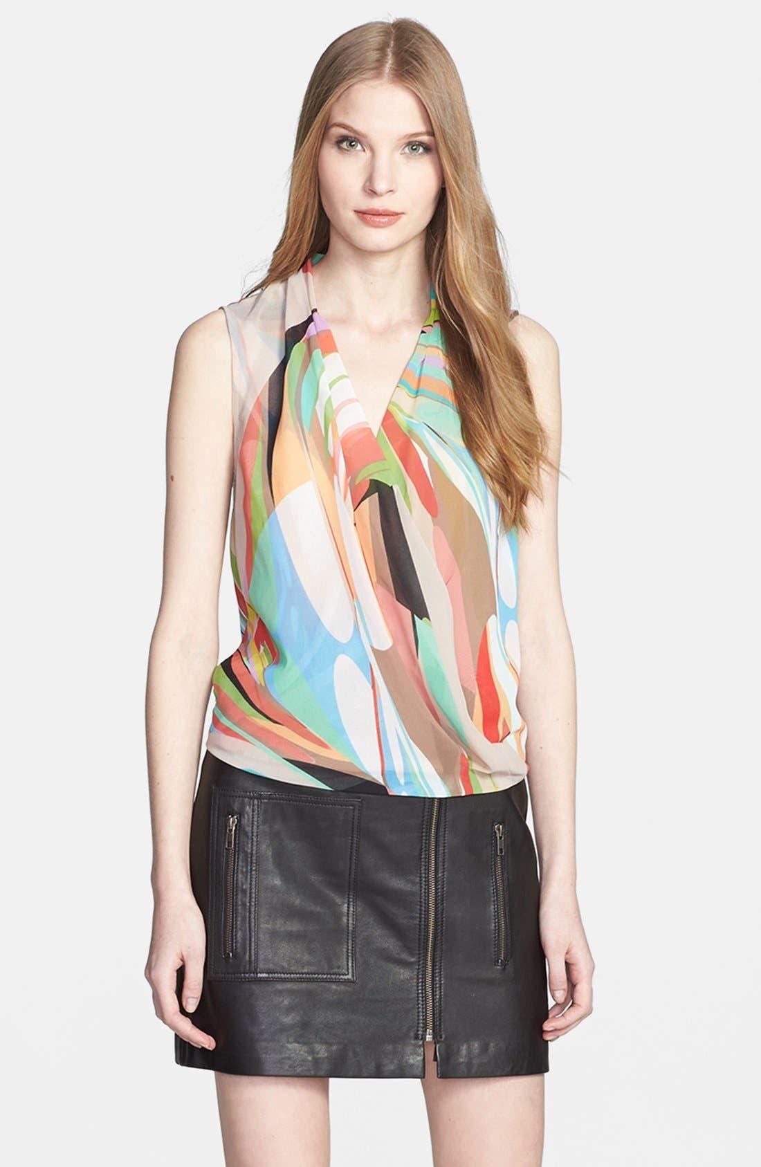 Alternate Image 1 Selected - Trina Turk 'Muriel' Print Drape Top
