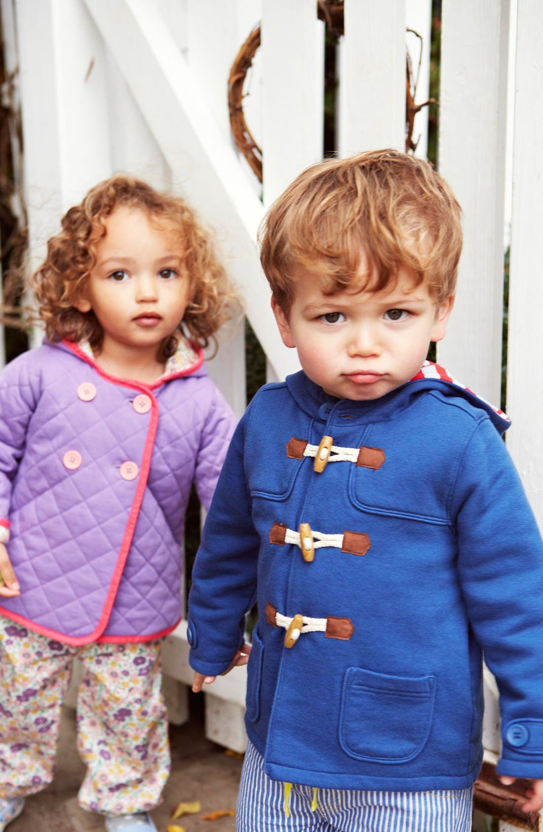 Alternate Image 2  - Mini Boden Quilted Jersey Jacket (Baby Girls)