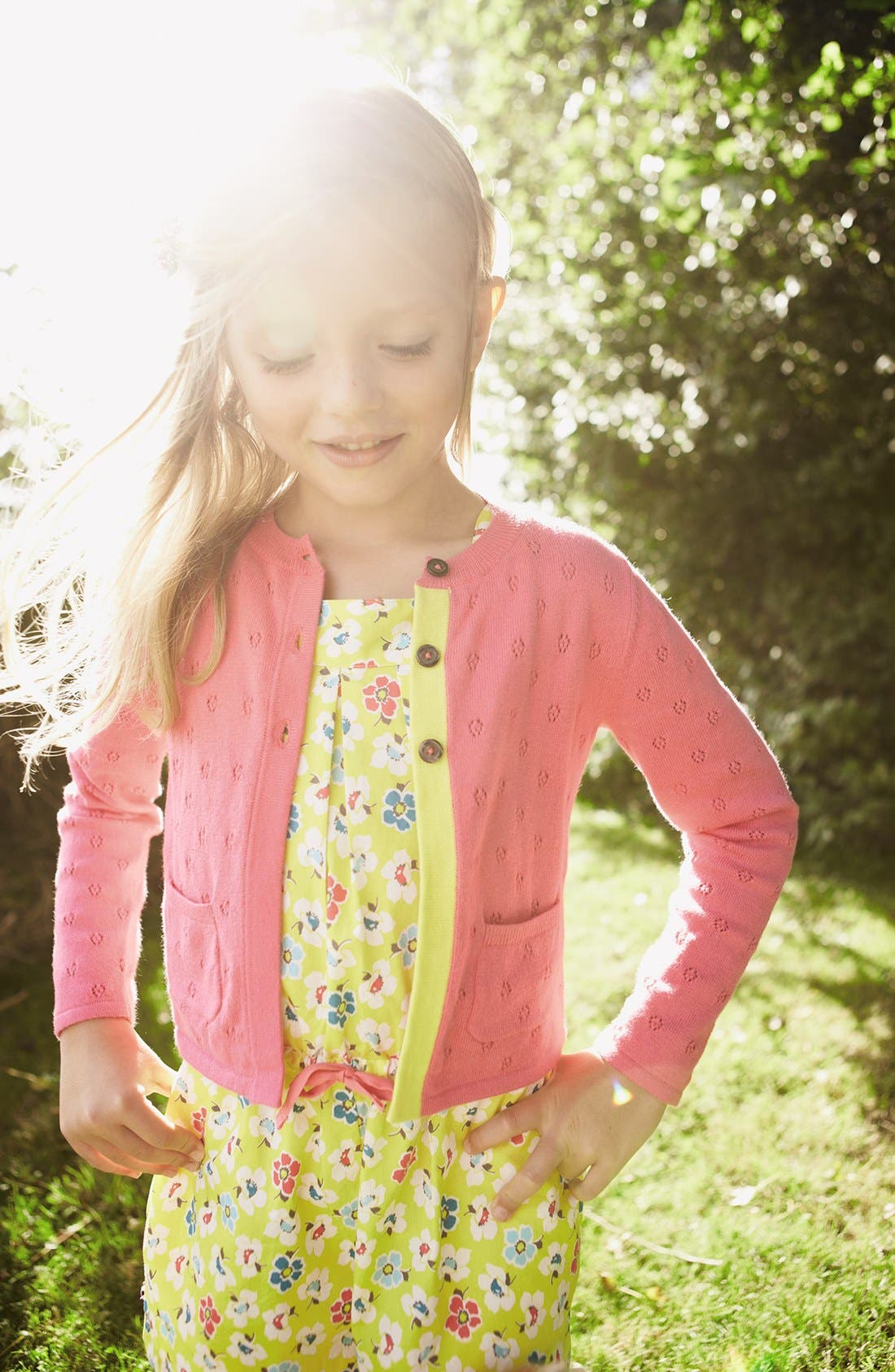 Alternate Image 2  - Mini Boden 'Pretty' Romper (Little Girls & Big Girls)