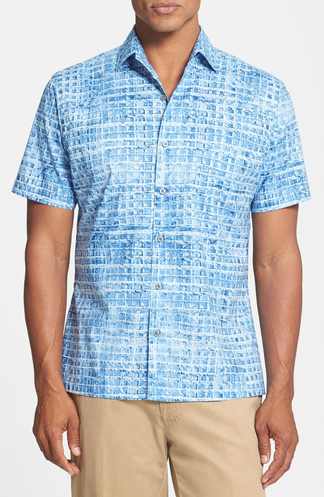 Alternate Image 1 Selected - Tori Richard 'Glass Tile' Classic Fit Short Sleeve Sport Shirt