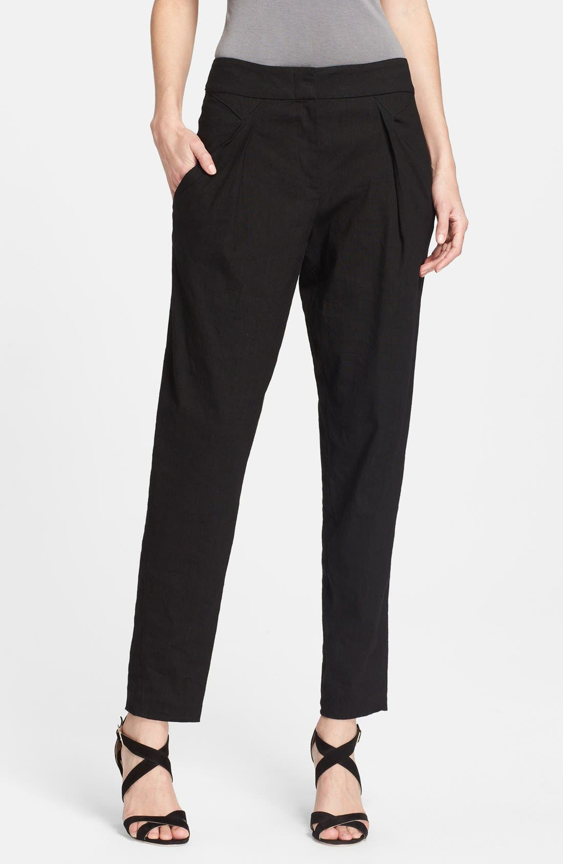 Main Image - Donna Karan Collection Washed Canvas Crop Pants