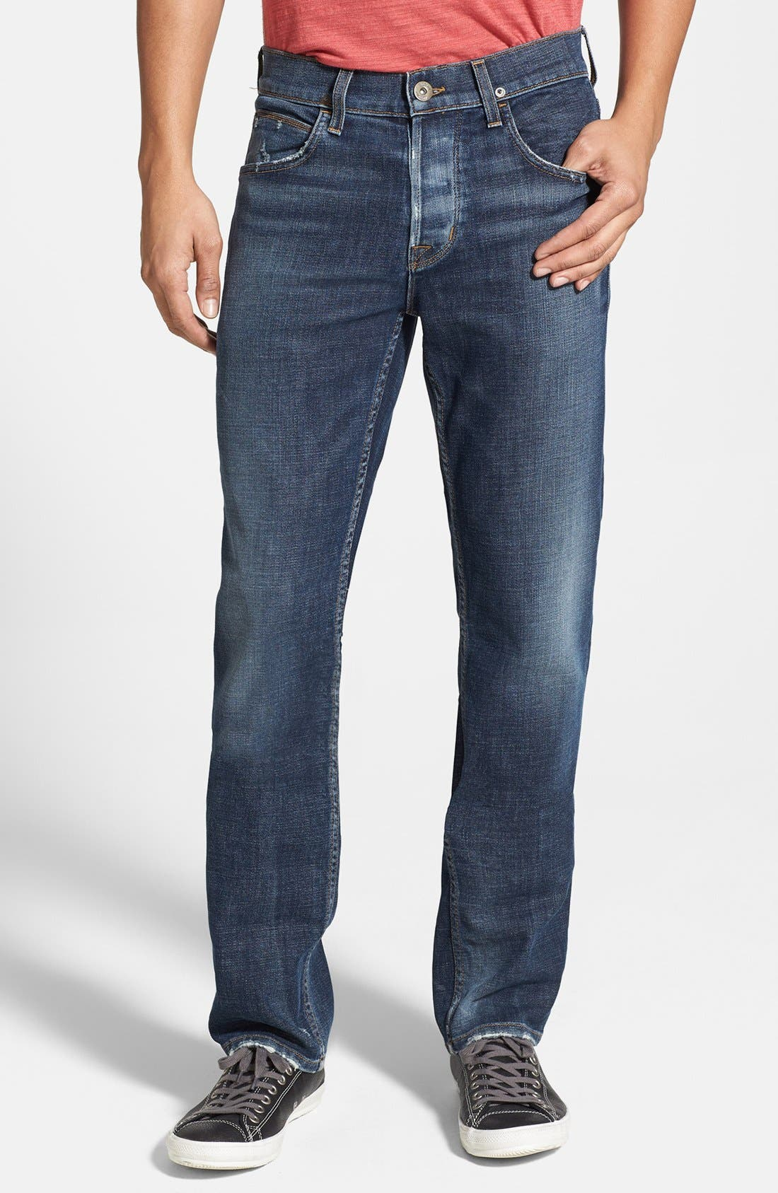 Alternate Image 1 Selected - Hudson Jeans 'Byron' Straight Leg Jeans (Thieves)