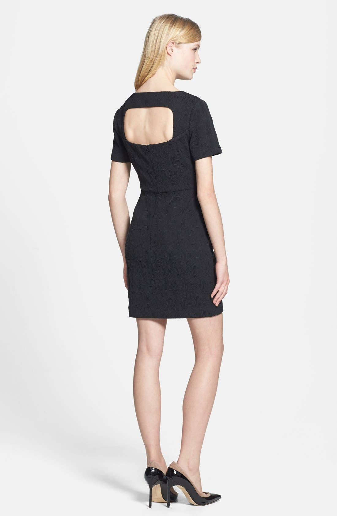 Alternate Image 2  - Chelsea28 Back Cutout Jacquard Dress