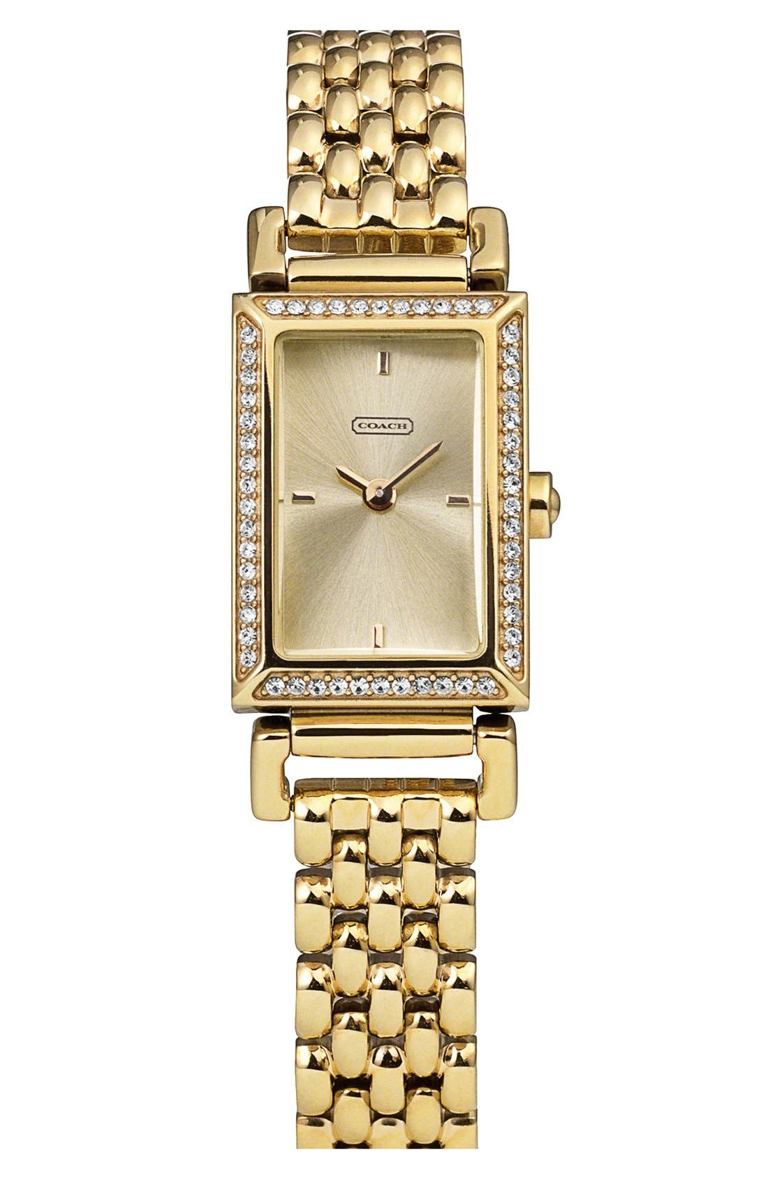 Alternate Image 1 Selected - COACH 'Madison' Crystal Bezel Bracelet Watch, 17mm x 30mm