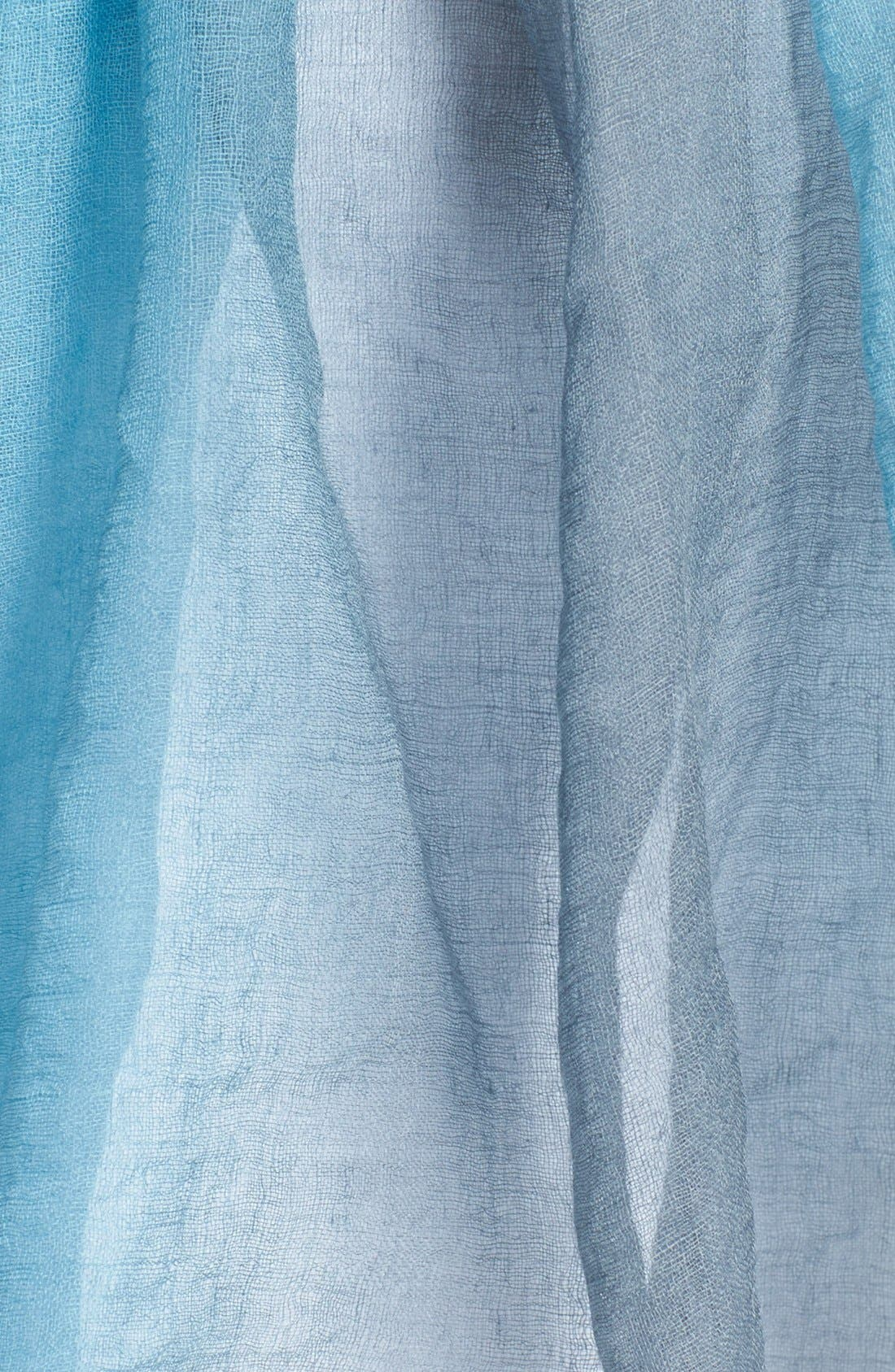 Alternate Image 2  - Eileen Fisher Ombré Featherweight Wool Scarf (Regular & Petite)
