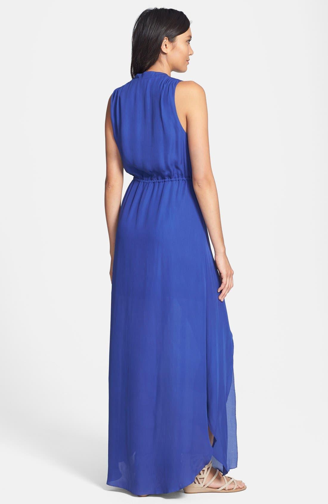 Alternate Image 2  - Madison Marcus Silk Chiffon Maxi Dress