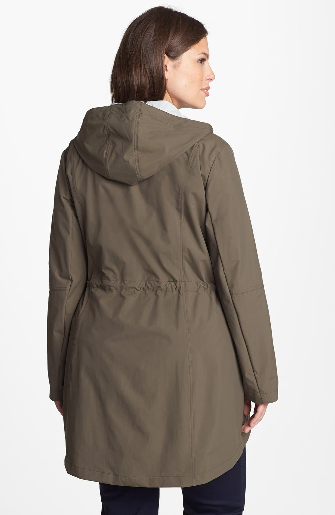 Alternate Image 2  - Laundry by Shelli Segal 'Drip Dry' Roll Sleeve Anorak