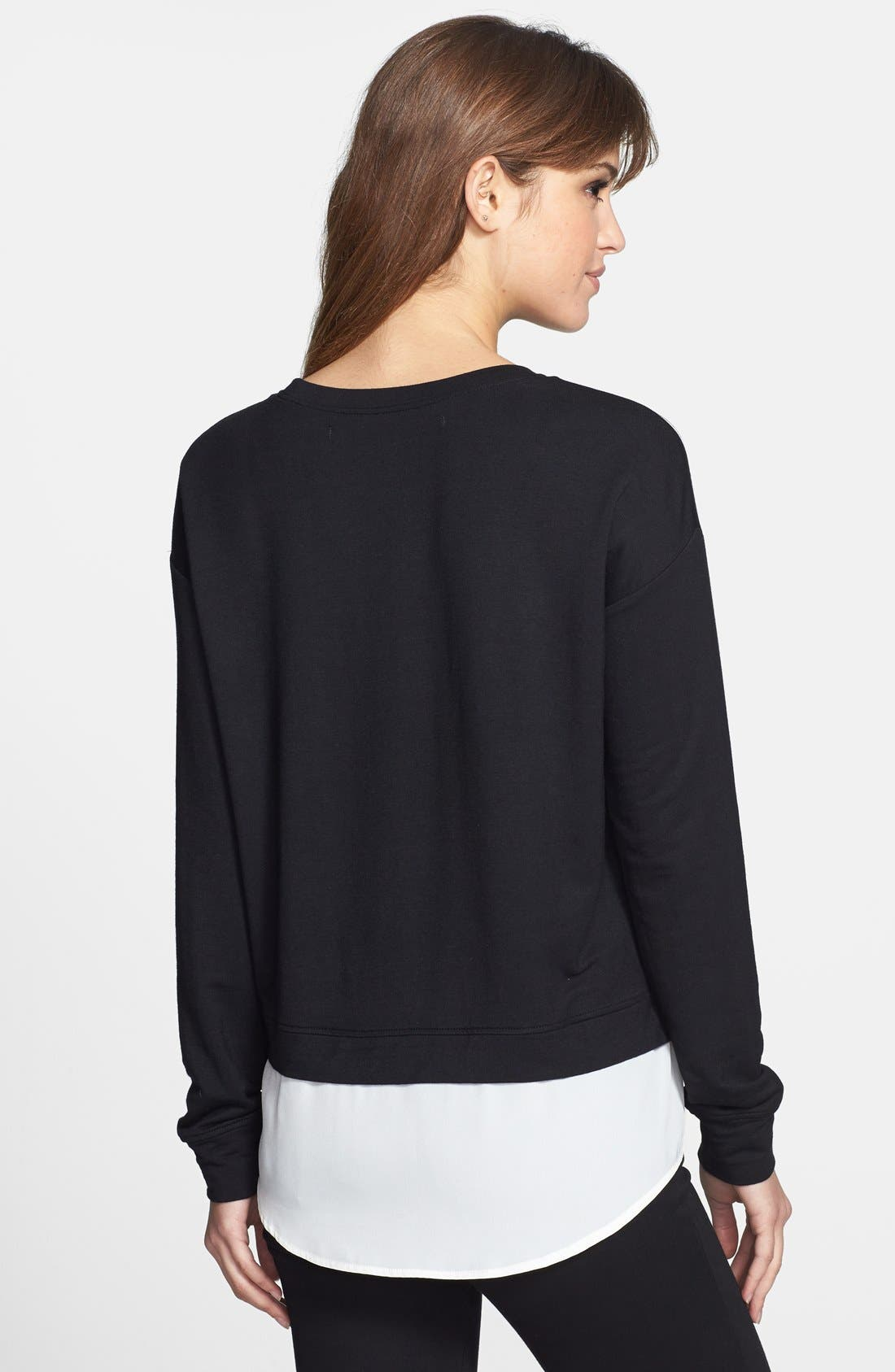 Alternate Image 2  - kensie Print French Terry Sweater