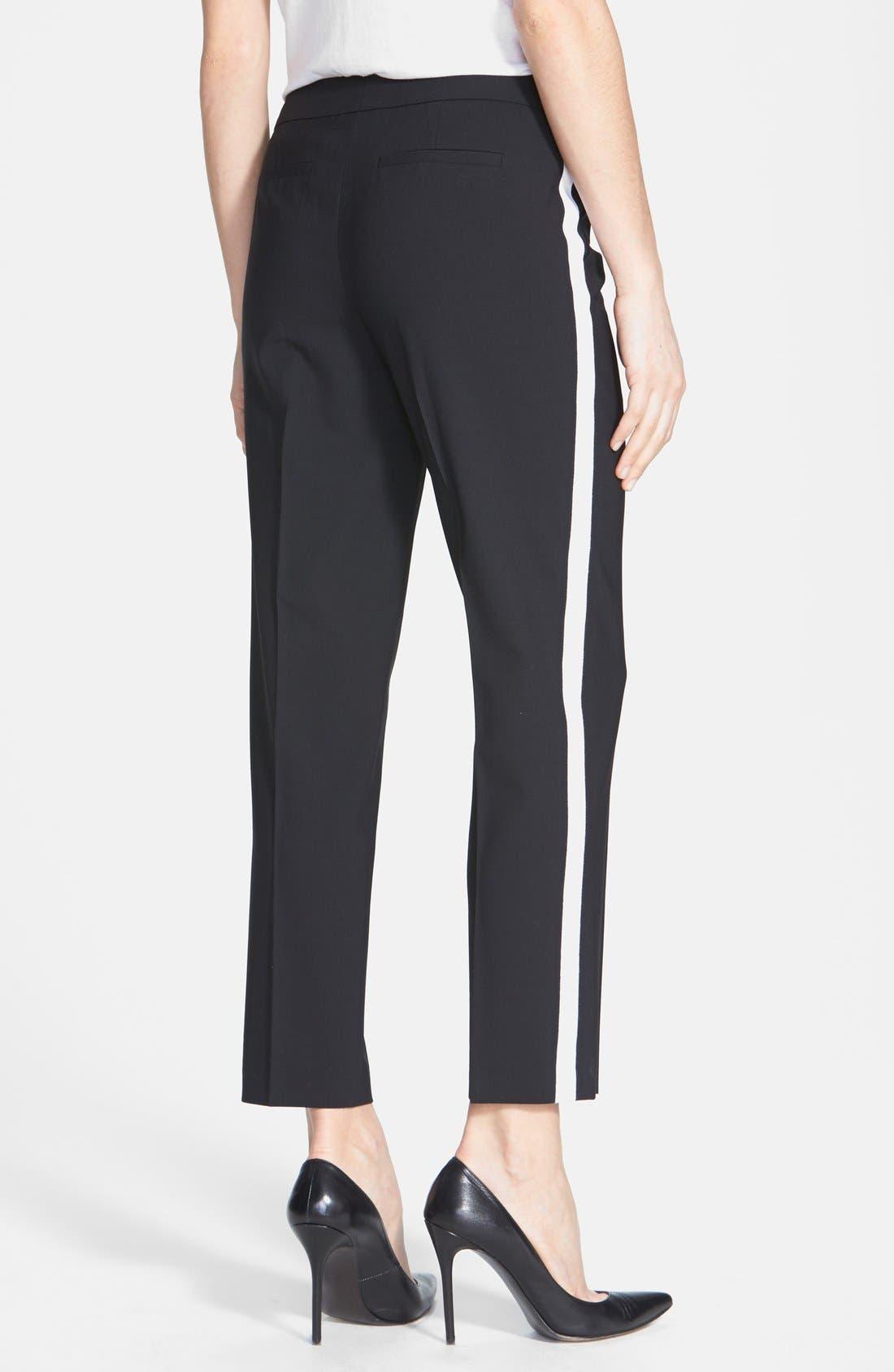 Alternate Image 2  - Classiques Entier® Side Stripe Stretch Wool Ankle Pants