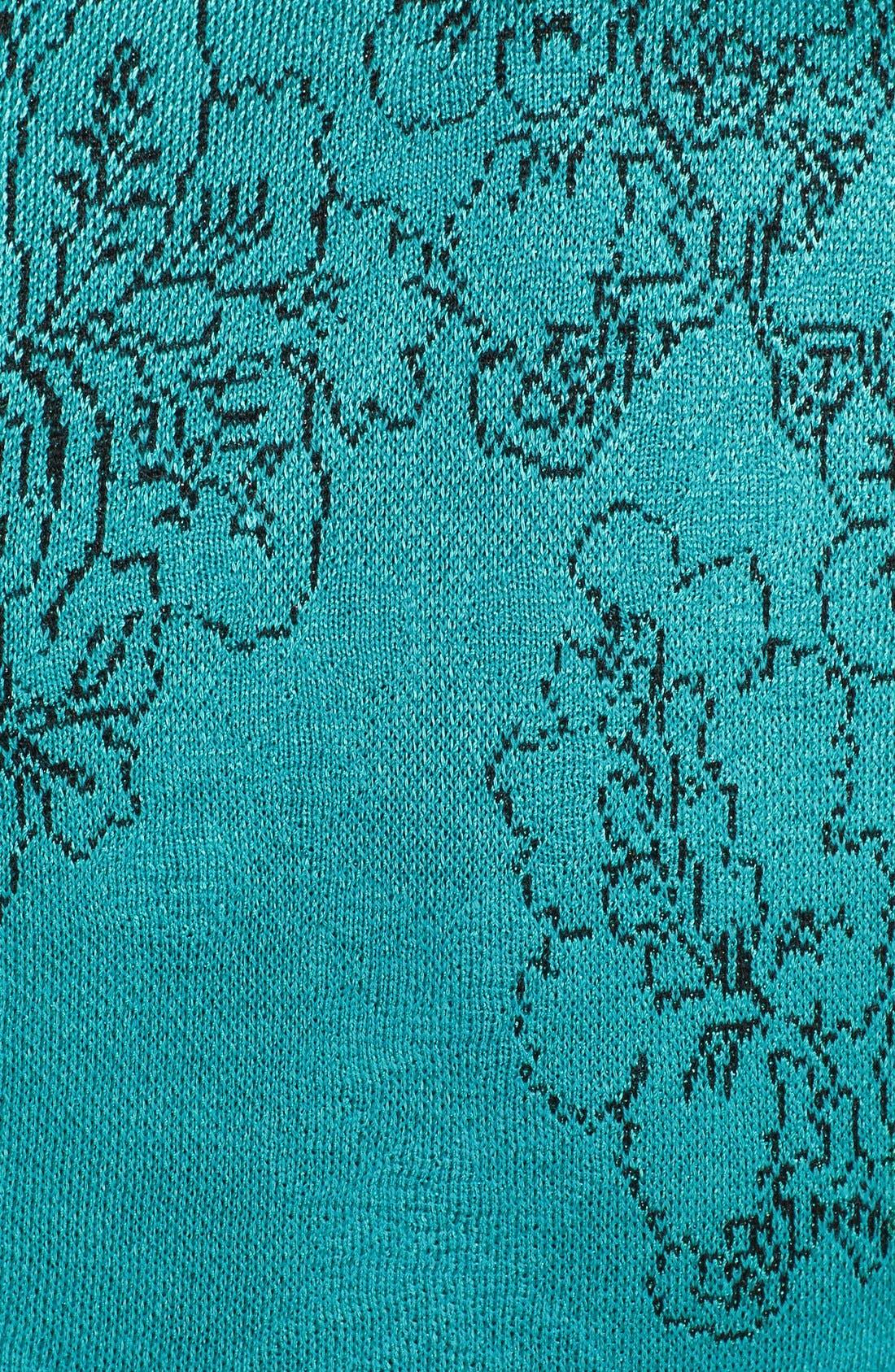 Alternate Image 4  - St. John Collection 'Floral Cascade' Jacquard Knit Sheath Dress