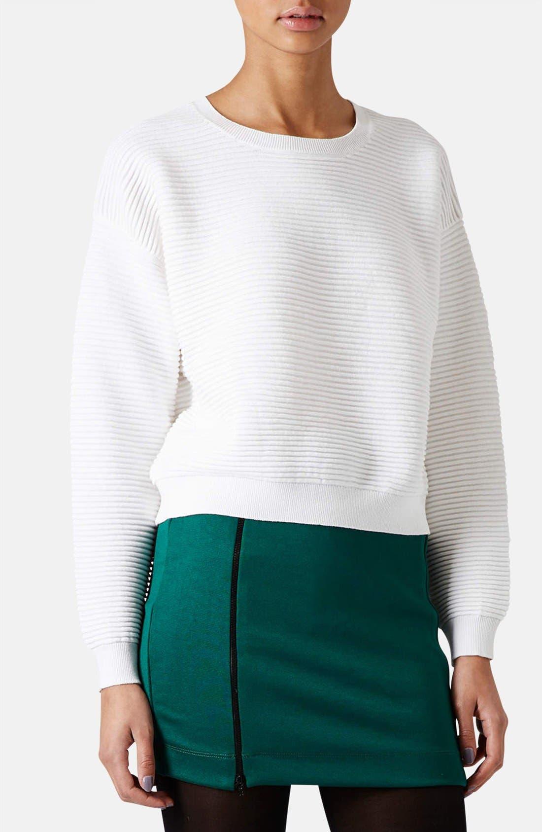 Alternate Image 1 Selected - Topshop Rib Knit Sweater