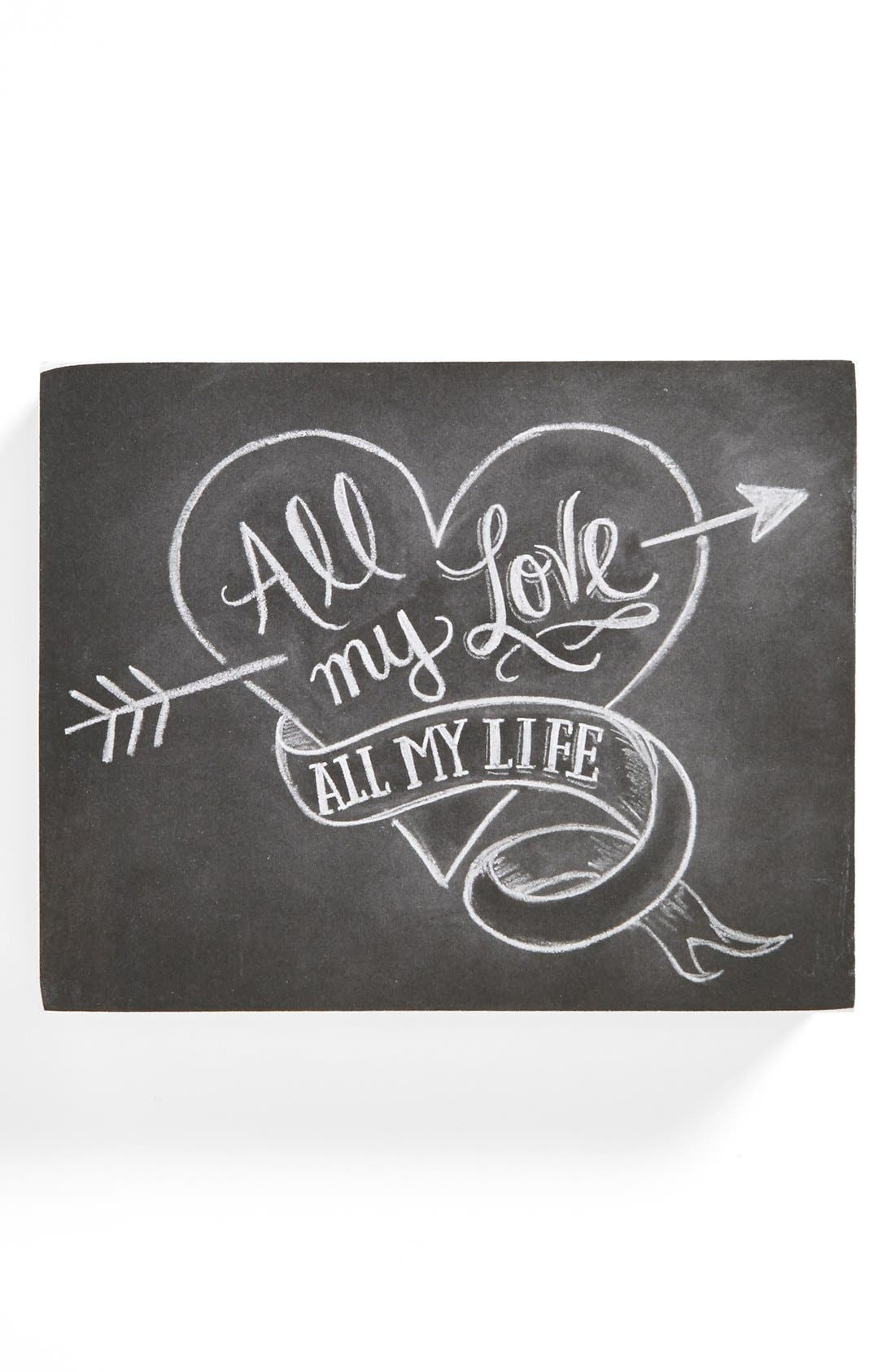 Alternate Image 1 Selected - Primitives by Kathy 'All My Love' Chalk Sign