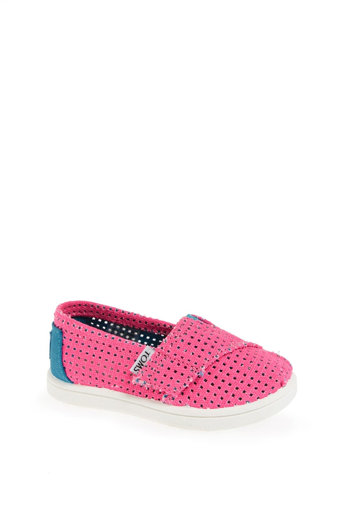 Alternate Image 1 Selected - TOMS 'Classic Tiny - Freetown' Two-Tone Slip-On (Baby, Walker & Toddler)